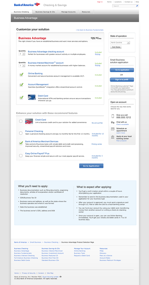 Bank of America Business Customer Solutions on Behance