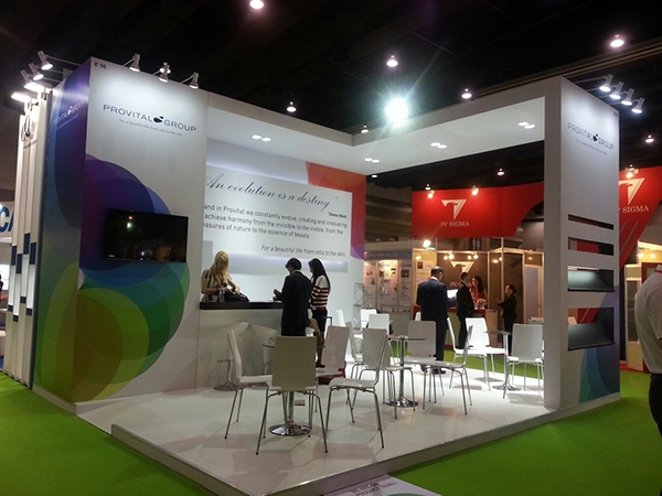 Exhibition Booth Bangkok : Stand design provital group in cosmetics bangkok on