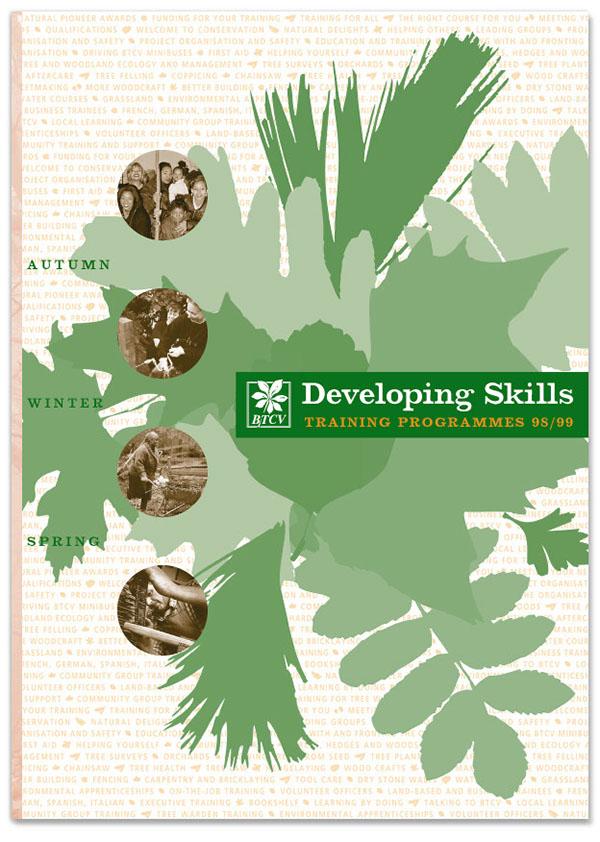 2-colour btcv conservation courses Education environment pantone programme