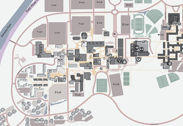 Rochester Campus Map.Campus Map Rochester Institute Of Technology On Student Show