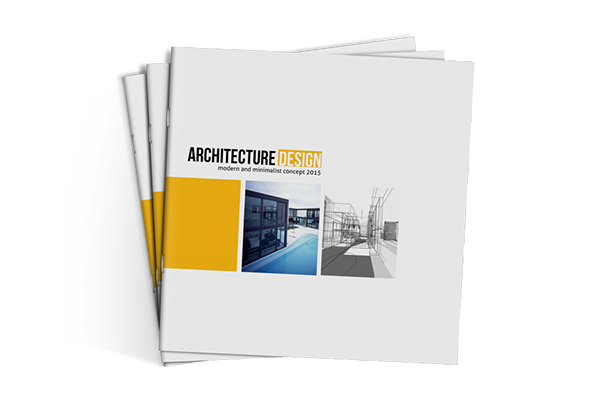 Square architecture brochure template on behance for Architecture design company