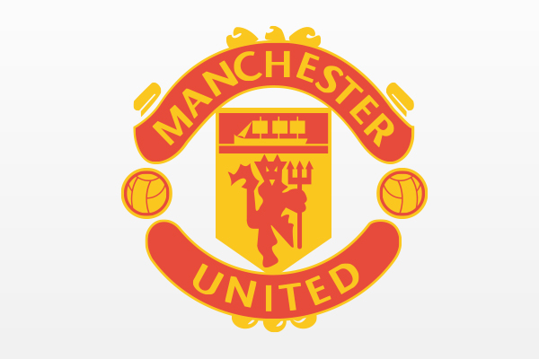Manchester United red devils soccer flat design redesign futebol chest