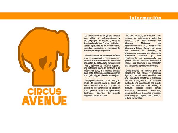 Identidad Circus Avenue On Pantone Canvas Gallery