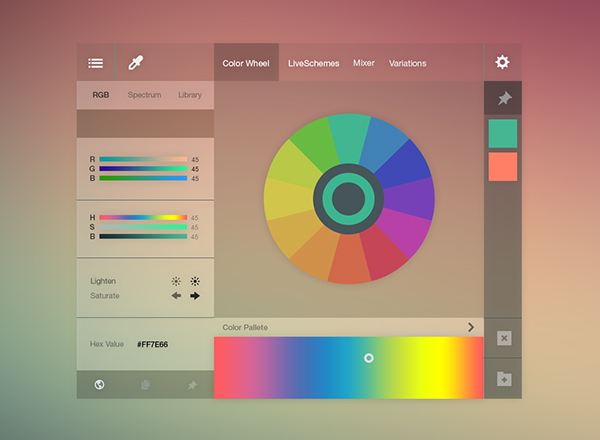 Adobe Color Wheel Redesign Free PSD On Behance