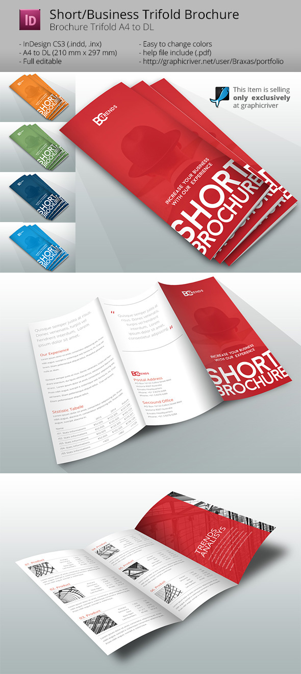 business short brochure on behance