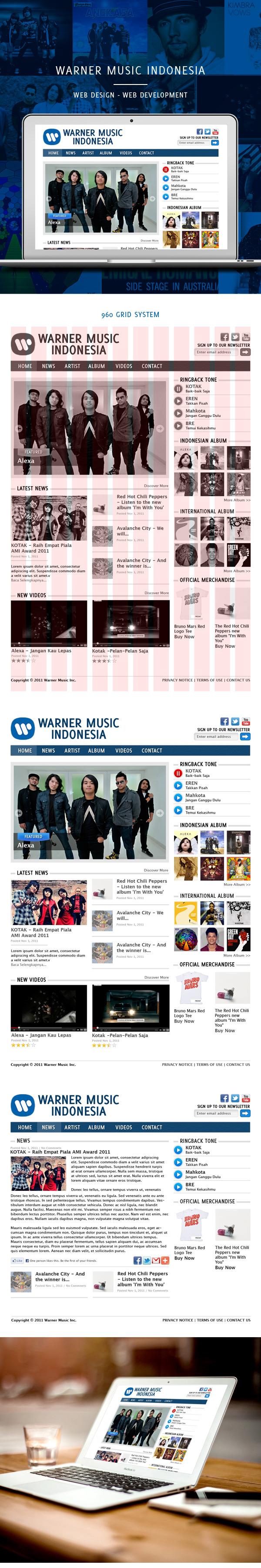 warner Music Website company
