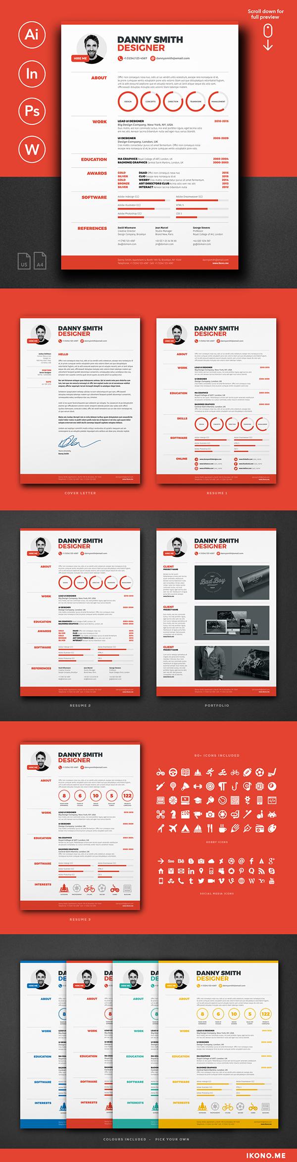 resume template 2 on behance