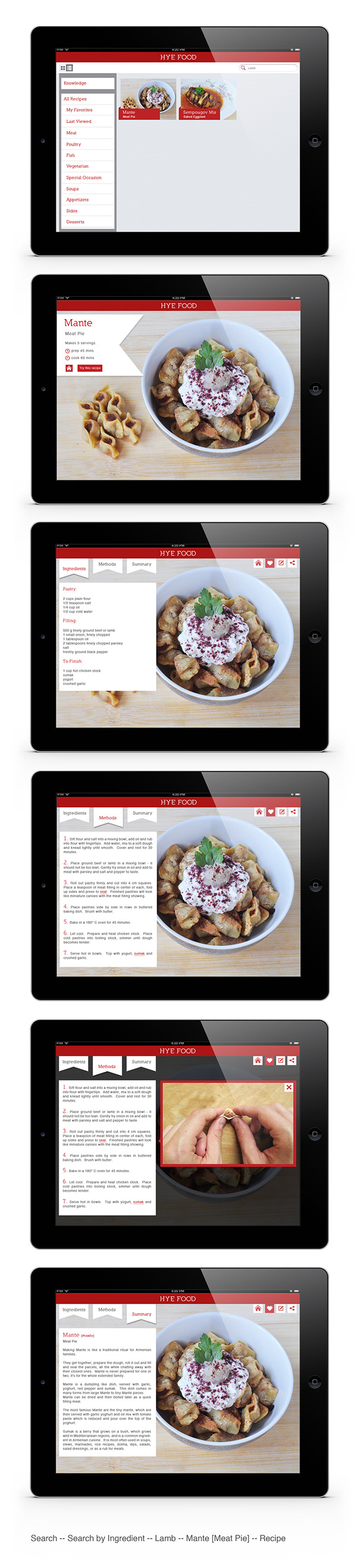 Hye food armenian cooking ipad app on pantone canvas gallery for Armenian cuisine cookbook