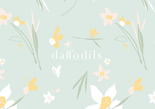 print & pattern : daffodils
