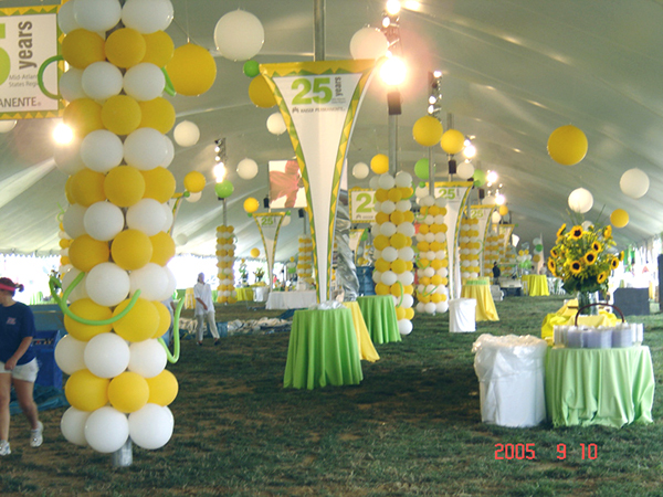 Balloon decor for corporate event on behance for Balloon decoration business