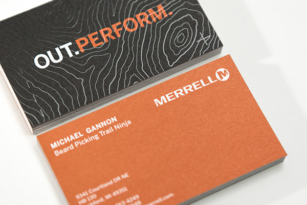 Merrell Business Card And Letterhead On Behance
