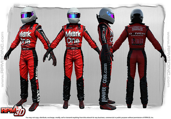 3D NASCAR Driver on Behance