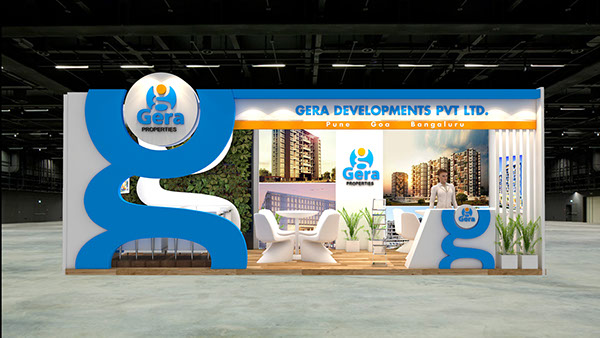 Property Exhibition Booth : Gera properties exhibition design for property show uae on aiga