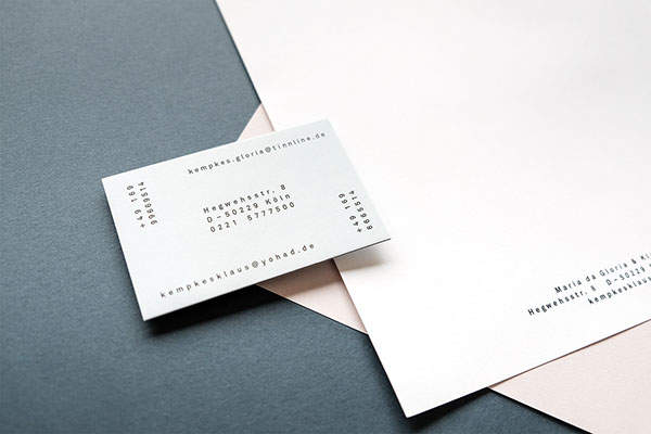 Stationary Design Private Business Cards W Style On Pantone
