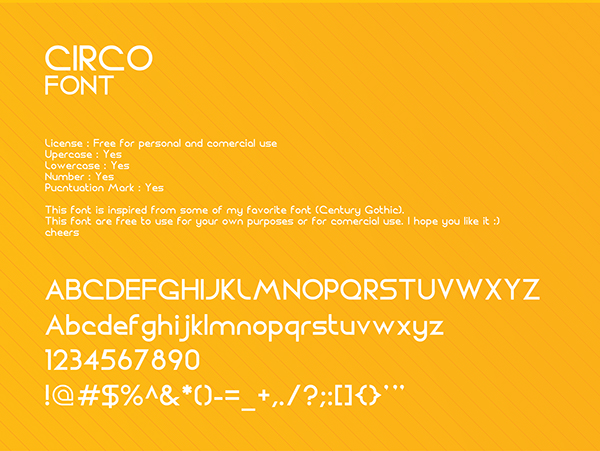 CIRCO Font free on Student Show