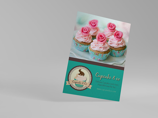 Cupcake Template Design : Sweet & Cupcake Flyer V2 on Behance
