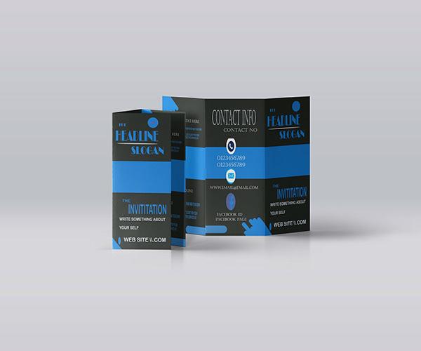 Tri-fold brochure service
