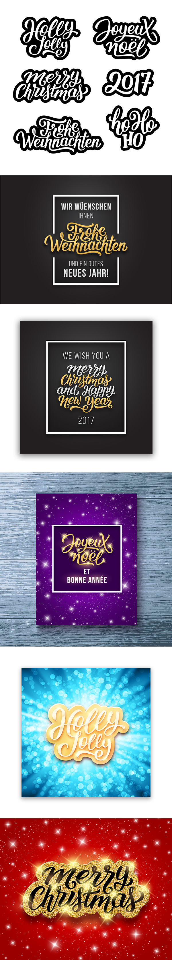 happy new year 2017 greeting cards design on behance