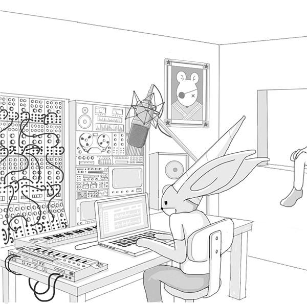 rabbit,Cat,Music Studio,room,ghost,Enzo Benedetto