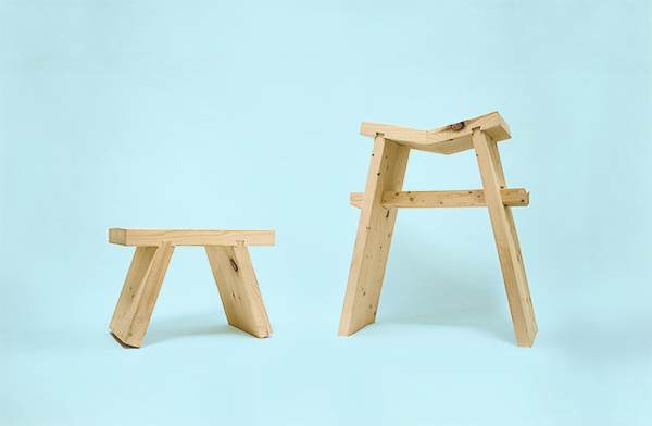 stool chair furniture Solidarity matthew lim chinese woodworking forces Newton RTA ready-to-assemble flat pack