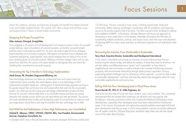 Land Development Brochure : Conference brochure for land development —design on behance