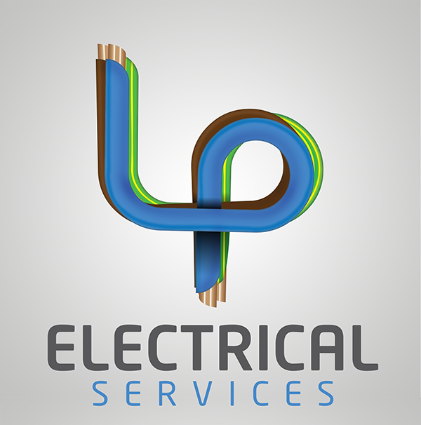 Lp electrical services logo on student show more work to follow for this company in the form of business cards and van livery colourmoves