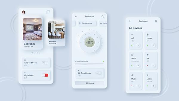 Newmorphic Home Control App