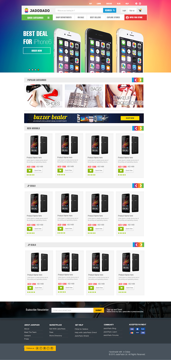 Online shopping web site ui designs for jadopado on wacom for How to design online shopping website