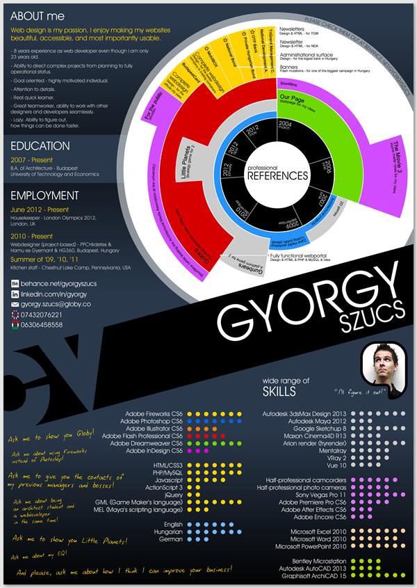 Graphical CV on Behance