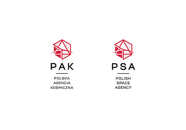 Polish space agency logo contest project on pantone for Space design agency