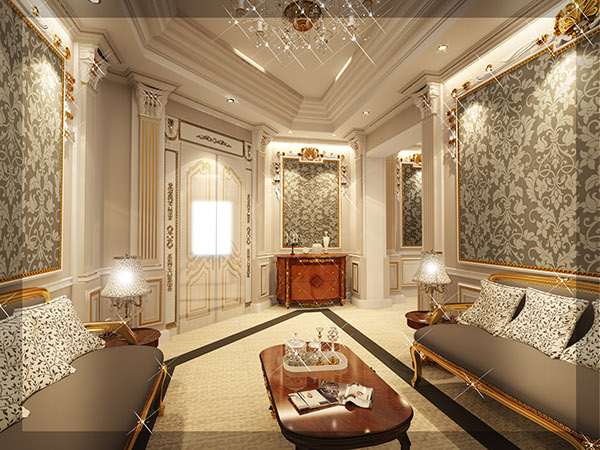 Royal master bedroom private palace on pantone canvas for Royal bedroom interior design photos