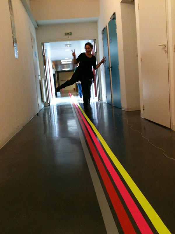 adhesive tape Signage lines scotch signalétique lignes parcours way