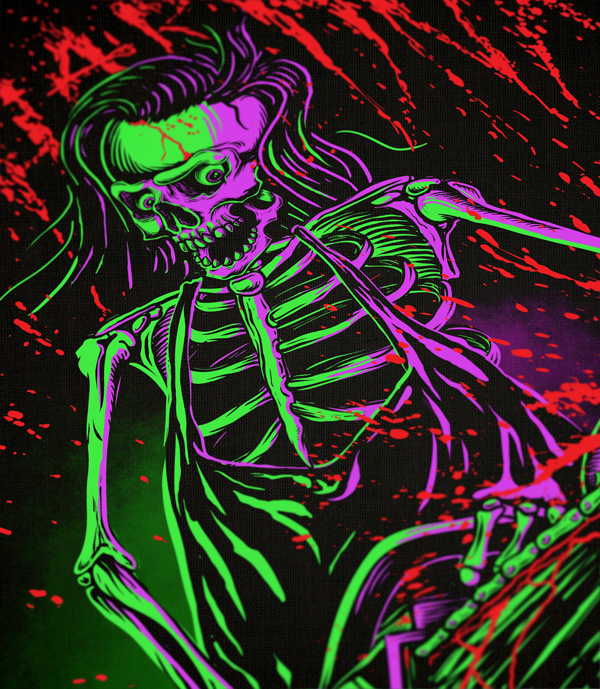 фотография неоновые скелеты картинки большинство цветов