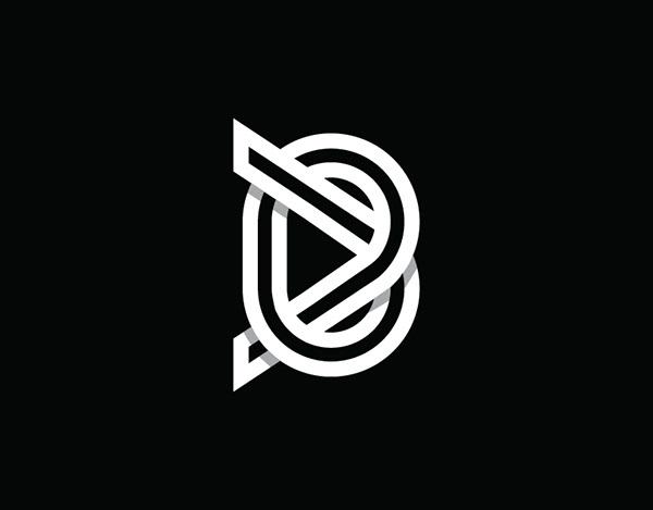 Letter B Monogram Logo For sale