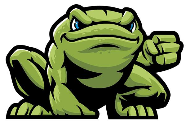 power frog final on behance rh behance net Vector The Crocodile Cute Frog Silhouette