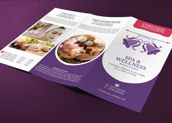 Spa Brochure Design Christmas Deals On Behance - Spa brochure templates