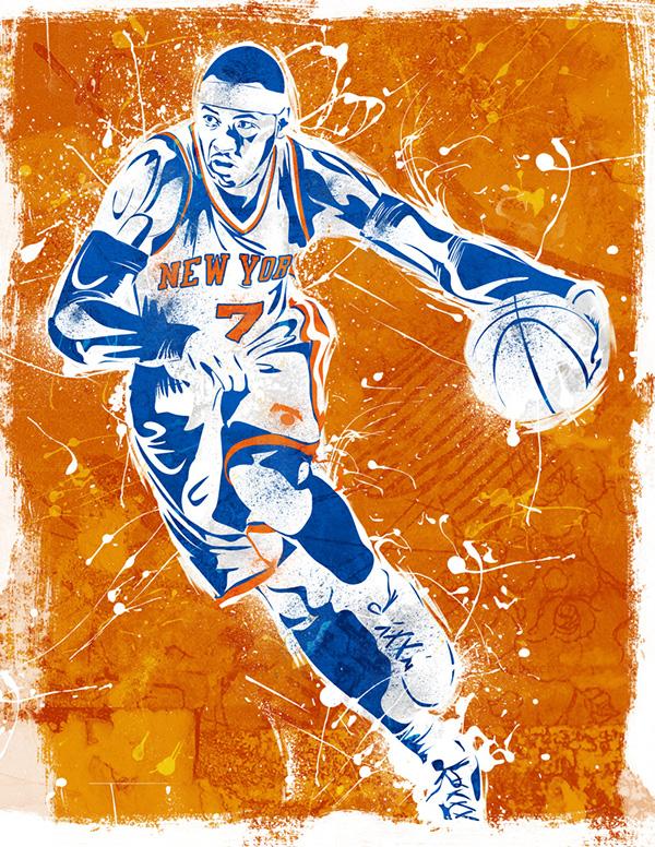 NBA posters - RAREINK on Behance