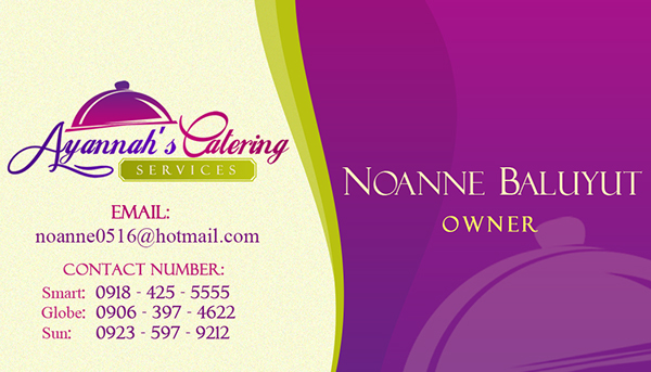 Ayannah's Catering | Logo Design & Business Card on Behance
