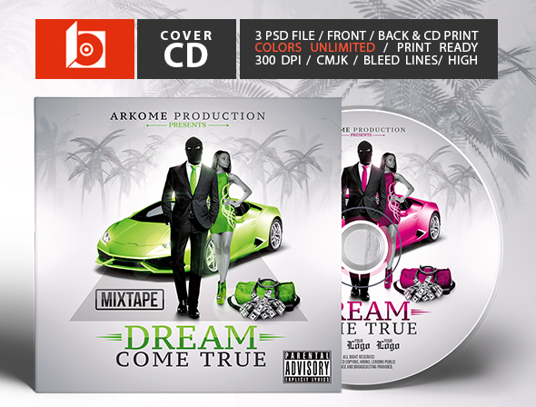 Dream Mixtape | Psd CD Cover Template On Behance