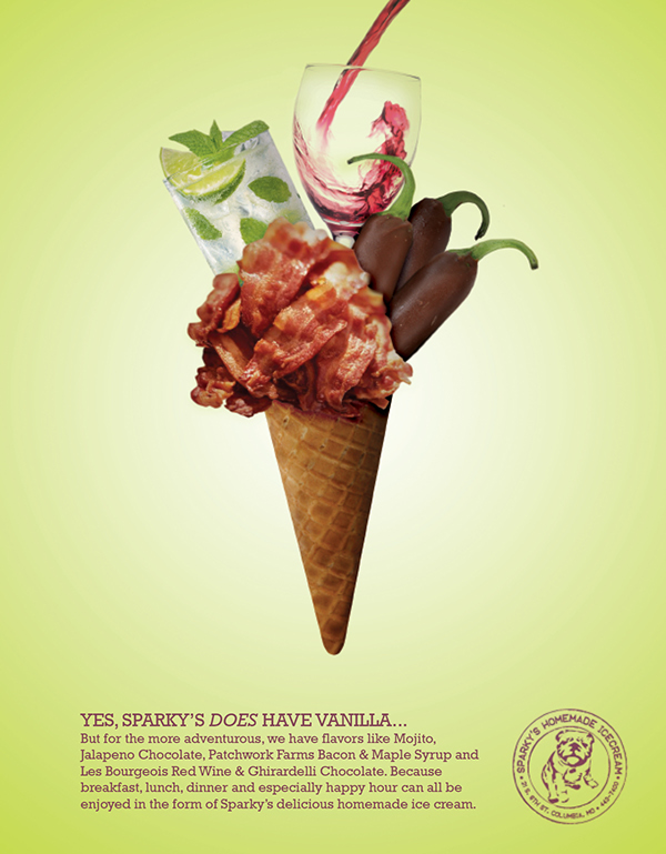 Sparky's Ice Cream Ad Campaign on Behance