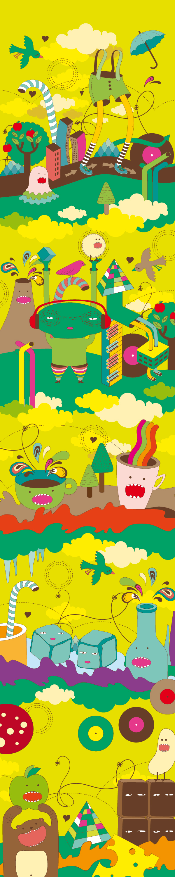 Illustrated World Of Simple Express On Behance