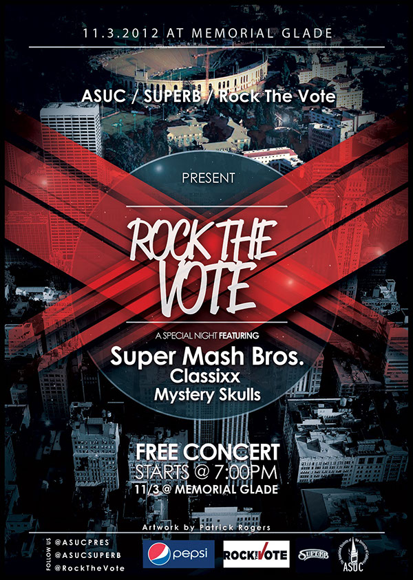 Rock The Vote Concert Poster