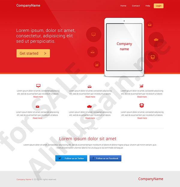 Web design development cloud red corporate
