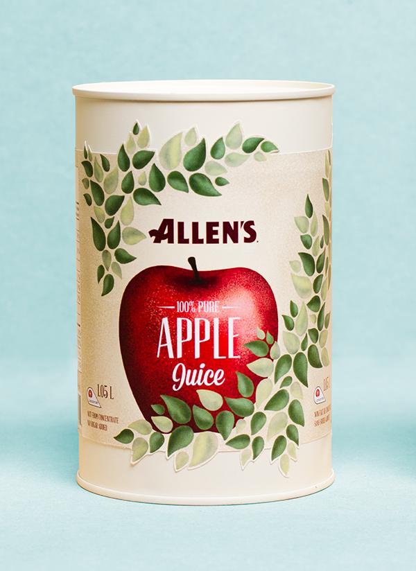 Allen's Apple Juice Redesign By Sara Panchaud