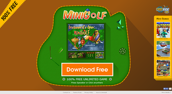 landing pages PC Games