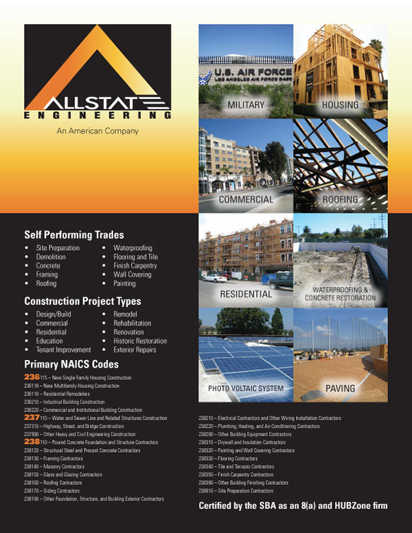 Construction Services Flyer : Allstate engineering flyer on behance