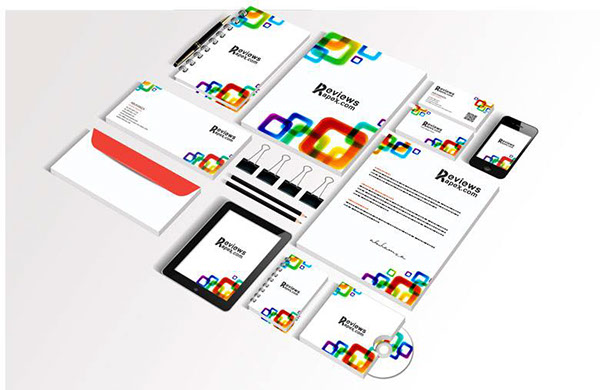 white corporate identity template (free) on behance, Powerpoint templates