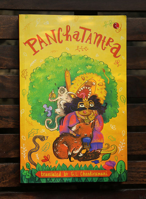 Book Cover Layout Bangalore ~ Panchatantra book cover design on behance