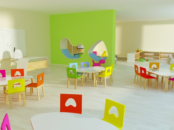 Classroom Design Preschool ~ Rainbow kindergarten interior design on behance