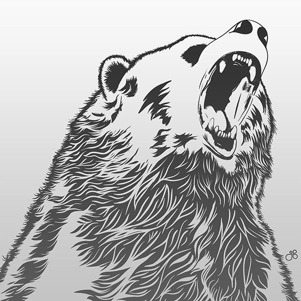 angry bear standing drawing - photo #19